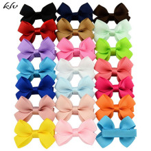 20Pcs Cute Hair Bows Boutique Alligator Clip Grosgrain Ribbon For Girl Baby Kids Lovely Accessories