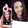 Vitopal LED Flash Light Adjustable Selfie Ring phone Beauty lighting with Wide Angle Macro Fisheye Lens for iPhone 6 Samsung