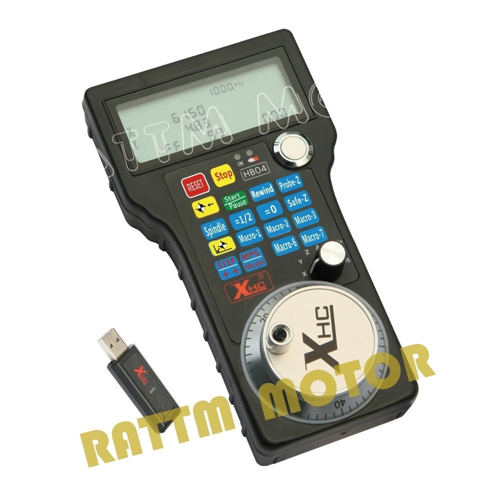 EU/RU Ship Free Tax!! Wireless USB MACH3 MPG Pendant WHB04-L 40M w/ Electronic Handwheel for CNC Mach3 hand wheel for CNC Router
