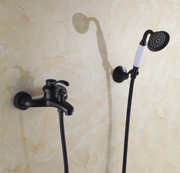 Fashion Europe style quality brass Black ORB finished bathroom bathtub faucet set,shower faucet mixer set