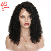 Hesperis 150 Density Kinky Curly Human Hair Lace Front Wigs For Women 100% Brazilian Remy Hair Lace Front Wigs Pre Plucked