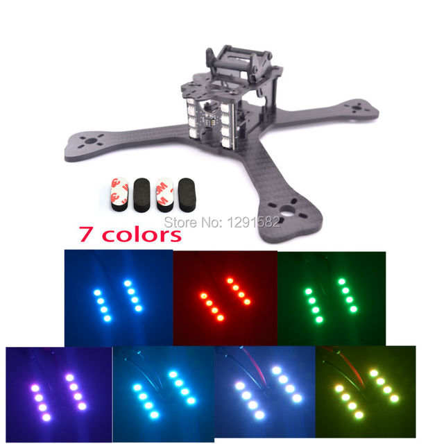DIY FPV 210 210mm drone Quadcopter carbon fiber frame 4mm main lower plate + LED Board Light for GEPRC GEP-TX