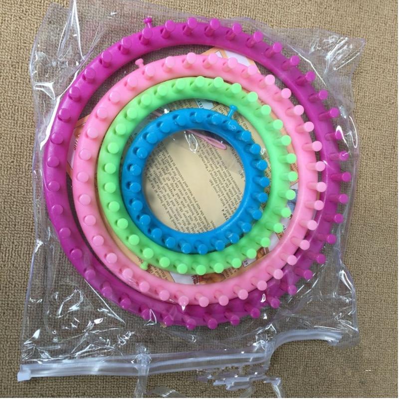4 Size/set Classical Round Circle Hat Knitter Knitting Knit Loom Kit 1 Wool Yarn Needle Knit Hobby Knitting Machine Sewing Tools