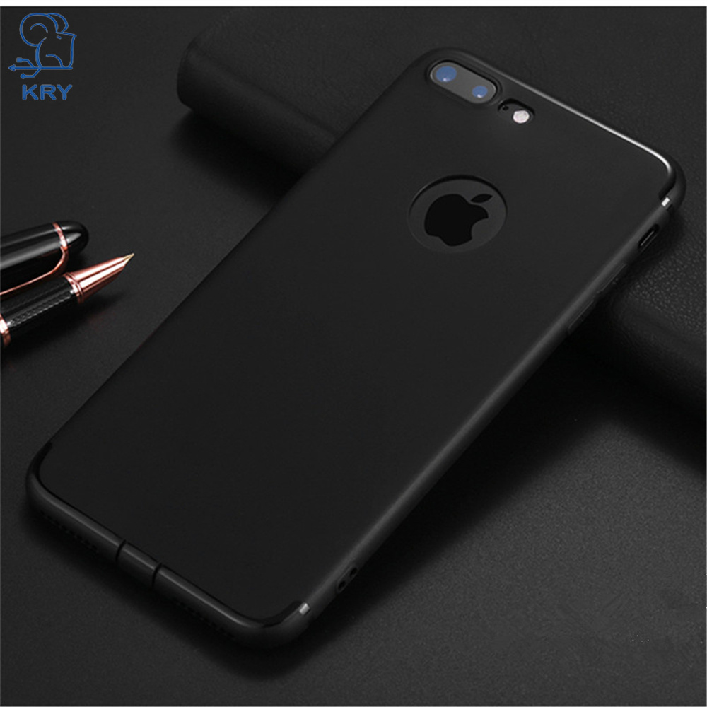 KRY Candy Color Phone Cases for iPhone 7 Case X 7 8 Plus Ultra thin Soft TPU Cover For iPhone 6 Case 6s 5 5s Cases Capa Coque