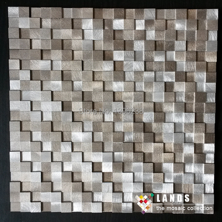 Hot3d Convex Aluminium Metal Mosaic Tileskitchen Backsplash
