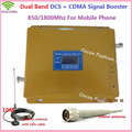 LCD Display ! GSM CDMA 850MHz +DCS 1800MHz Booster , 2G 4G Dual Band Mobile Signal Repeater , GSM DCS Cellular Signal Amplifier