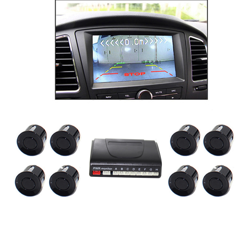 Сензор за паркиране на видео за автомобил Обратен резервен радар Асистент за автоматично паркиране Монитор за цифров дисплей Стъпка нагоре аларма Видео радар за DVD TFT