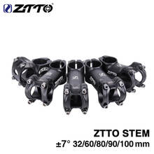 ZTTO Bar Stem 32/60/80/90/100mm Lightweight 31.8mm Handlebar Stem MTB Mountain Road Bike Bicycle Black Aluminum Alloy Stem все цены