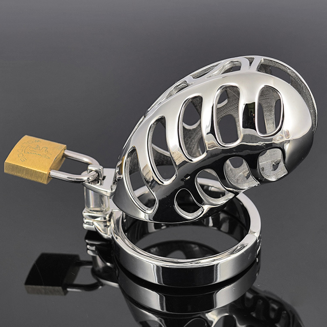 NEW ARRIVE Stainless Steel Male Chastity Device Cock Locking Cage Slave Metal Fetish Sex Product