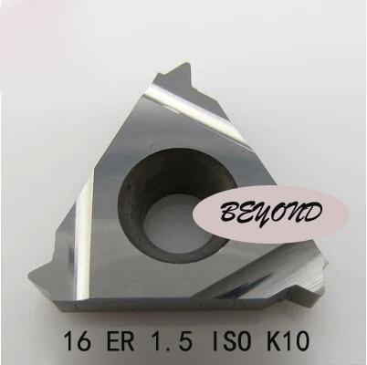 16 ER 1,5 ISO K10, indekseeritavad karbiidvälised väliskeermestatud - Tööpingid ja tarvikud - Foto 1