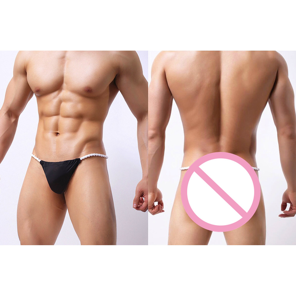 27325e2f5 Men Sexy Underwear Air Breathable Underpants G String Thong Bulge Pouch  Panties Micro Bikini T back Underwear Pants Brief-in Briefs from Underwear  ...