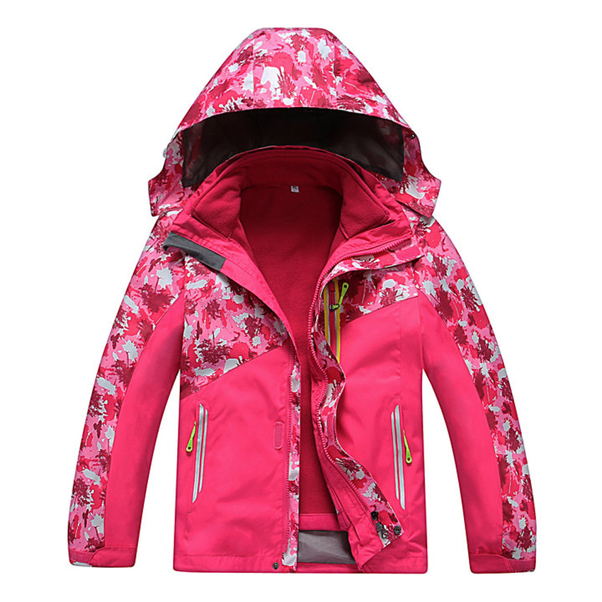 ФОТО 2016 autumn outdoor children 's windbreaker jacket windbreaker waterproof camping mountaineering  girls clothes free shipping