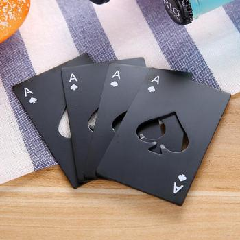 Stainless Steel Bottle Opener Poker Playing Card Mini Wallet Credit Card Openers Decor Bar Accessories LX5658