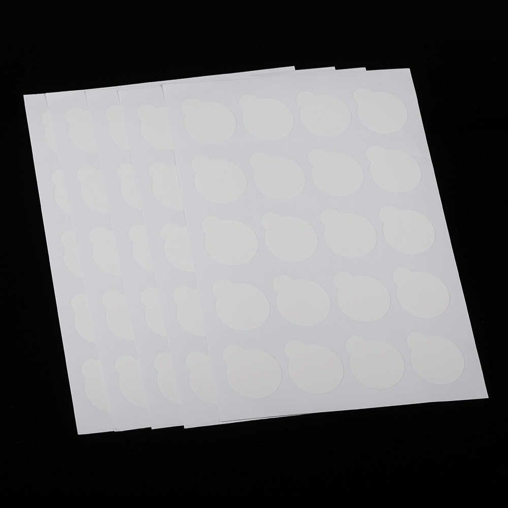 100pcs חד פעמי ריס דבק בעל מזרן ריס הארכת נייר מדבקת רפידות לעמוד על תיקוני עפעף דבק בעל מזרן