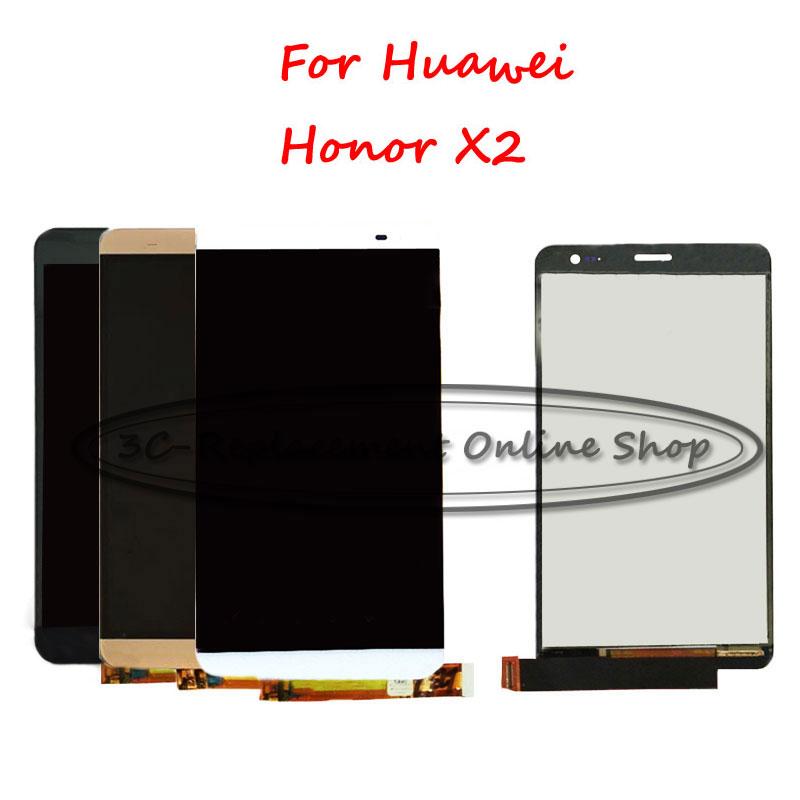 Prix pour Noir/Blanc/Or Pour Huawei Honor X2 MediaPad X2 GEM-703L GEM-703LT GEM-702L Écran lcd avec Écran Tactile Digitizer Smartphone