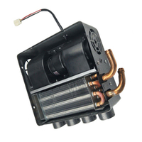12V Auto 4 Port Underdash Compact Heater Kit 12X Copper Tube+Speed Switch Set For Truck Universal