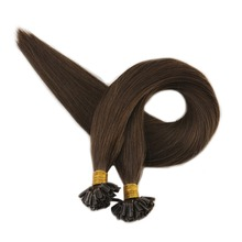 Pre Bonded Extensions U Tip Hair Keratin Brown Color #4 1g/Strand 50g 100% Remy Human Hair U Tip Hair Extensions