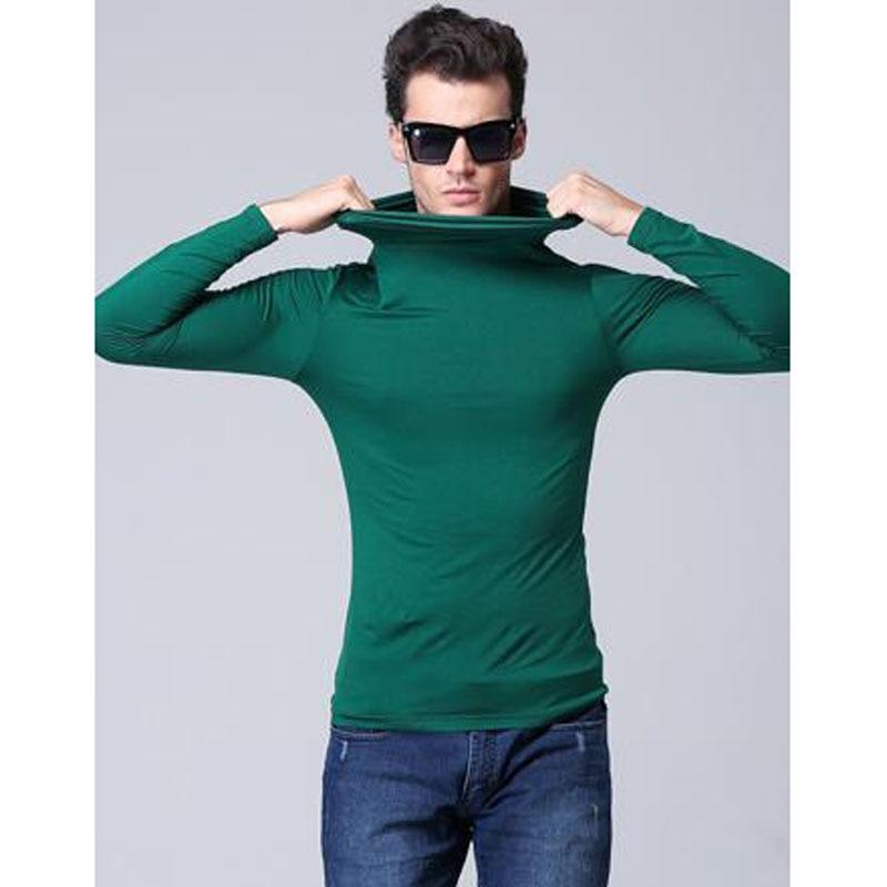 Herrmodell turtleneck långärmad T-shirt våren 2019 ny höststudent - Herrkläder - Foto 2