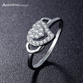 ANFASNI High-Class Korea Style Wedding Jewelry Love Rings for Women Heart Shape With AAA Zircon Fashion Ladies  Rings CRI0243-B