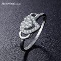 Anfasni high-class estilo coreia do amor anéis para as mulheres da jóia do casamento da forma do coração com aaa zircon anéis moda feminina cri0243-b