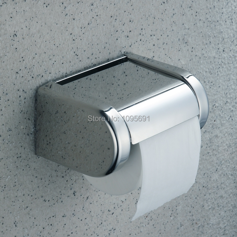 ФОТО Free shipping New Bathroom Wall Mounted Chrome stainless steel  toilet paper holder Box tissue holder
