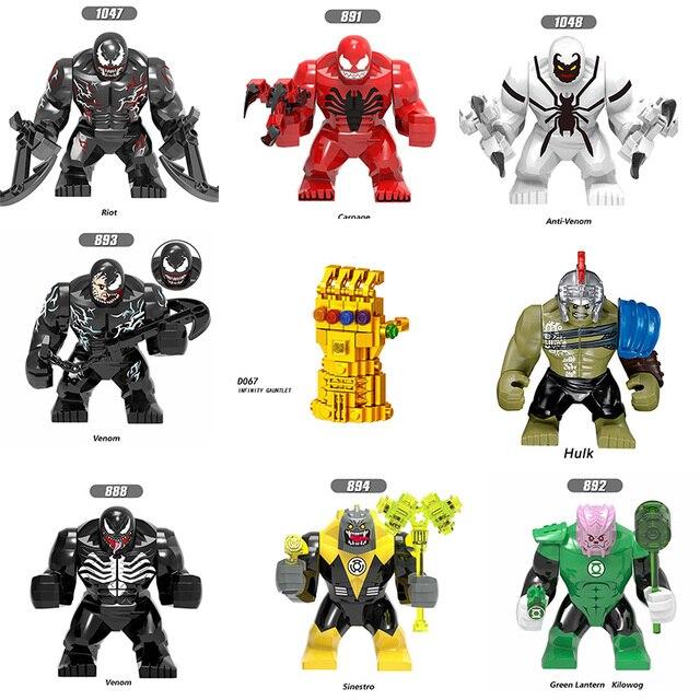 Single Sale Venom Carnage Blocks Legoingly Figure Marveled Anime Super Hero Hulk Venom Antman Building Blocks Set Model Toys
