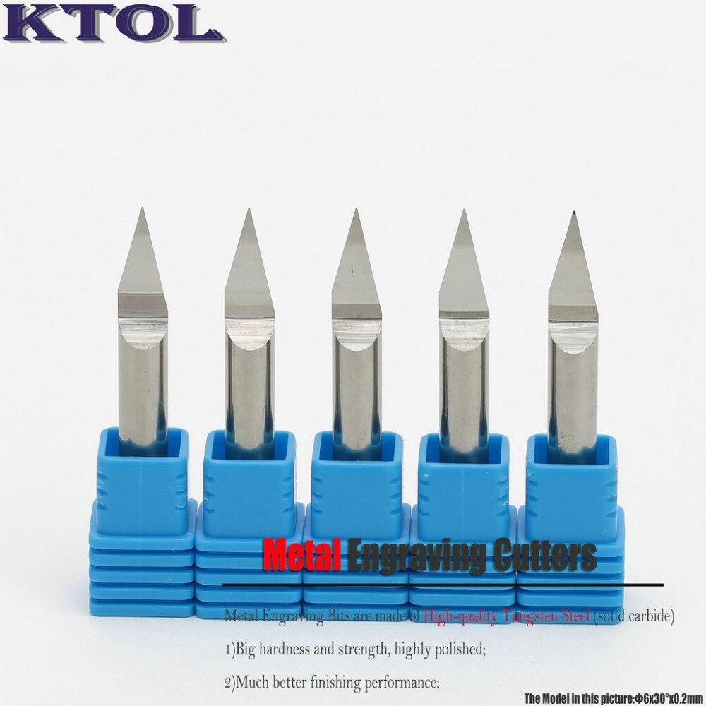 5Pcs Set 6MM Shank 30 Degree 0 2mm TOP Carbide PCB Engraving Bits CNC Cutter Metal