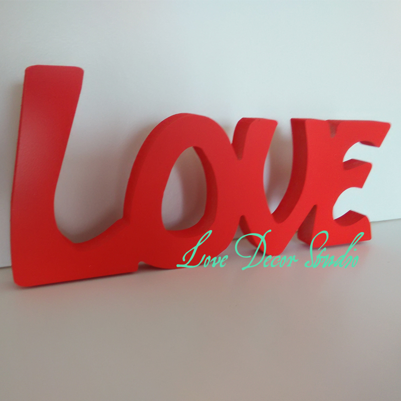 free shipping wooden plaque pvc npcsc love letter registered letter decorative gift wedding decoration red 6
