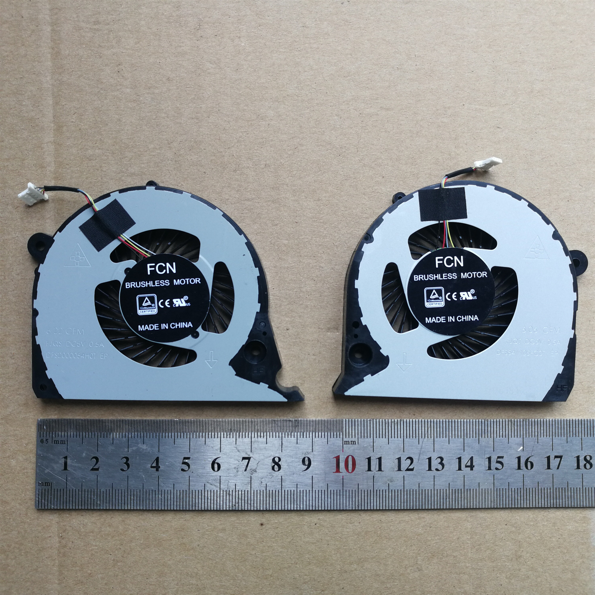 L&R pair New laptop cpu cooling fan for DELL Inspiron 15 G7 7577 7588 02JJCP