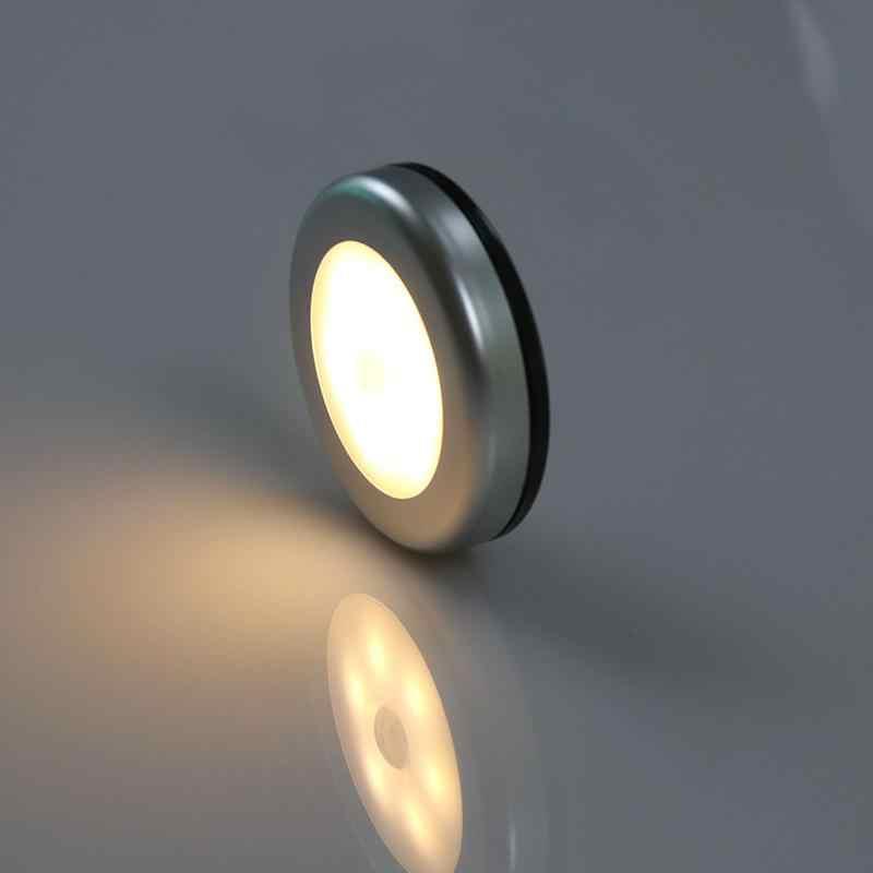 3 шт. датчик движения 6 светодиодный Ночной светильник на батарейках 6 светодиодный настенный светильник для прихожей шкаф лестницы спальня теплый белый/белый светильник