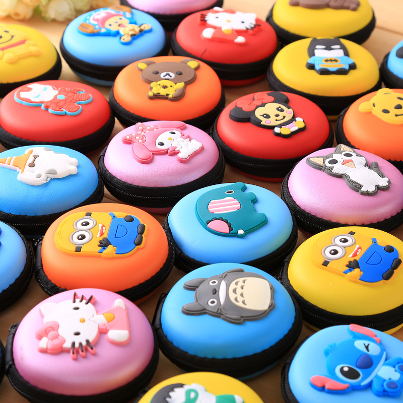 Cartoon Earphone Storage Bag Case For Headphone Earbuds Key Coin Hard Holder Box Carrying Hard Hold Case Memory Card Ear Pads
