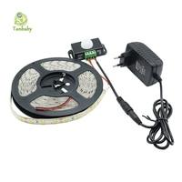 Tanbaby 5630 LED Strip Light 5M 300 Leds Non Waterproof Flexible 5730 Ribbon With PIR Sensor