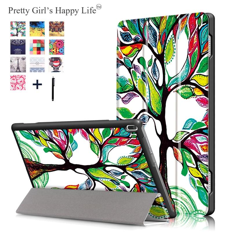 Case For Lenovo Tab 4 10 TB-X304L TB-X304F/N Print  Leather Stand Cover For Lenovo Tab 4 10 Tablet Fundas+Stylus