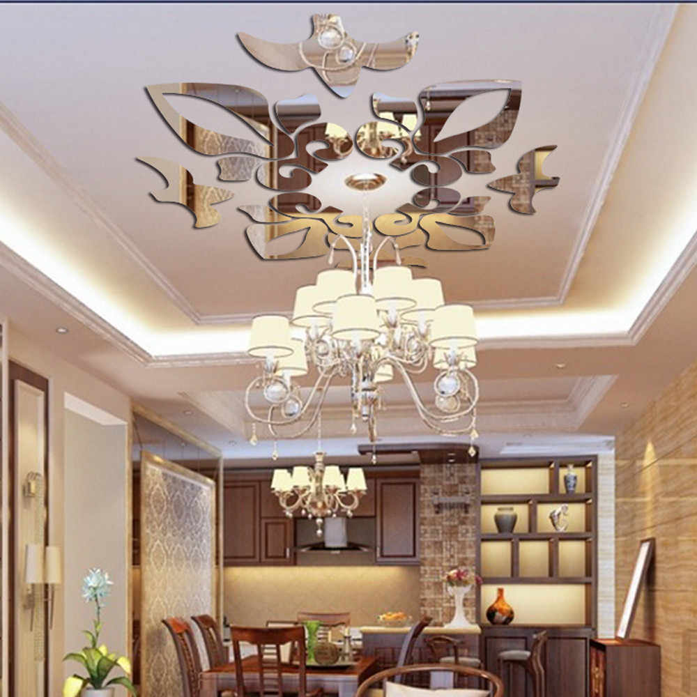 3d Wall Sticker Creative Abstract Acrylic Style Mirror Ceiling