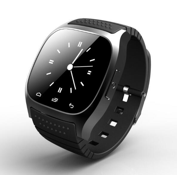 imágenes para En Stock Impermeable M26 Bluetooth Smartwatch Podómetro Reloj Inteligente Con LED Alitmeter Reproductor de Música Para El Teléfono Inteligente Android