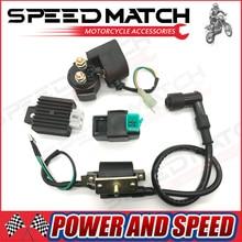 Катушки зажигания CDI Коробка Регулятор выпрямителя и стартер реле для 110cc 125cc квадроциклах