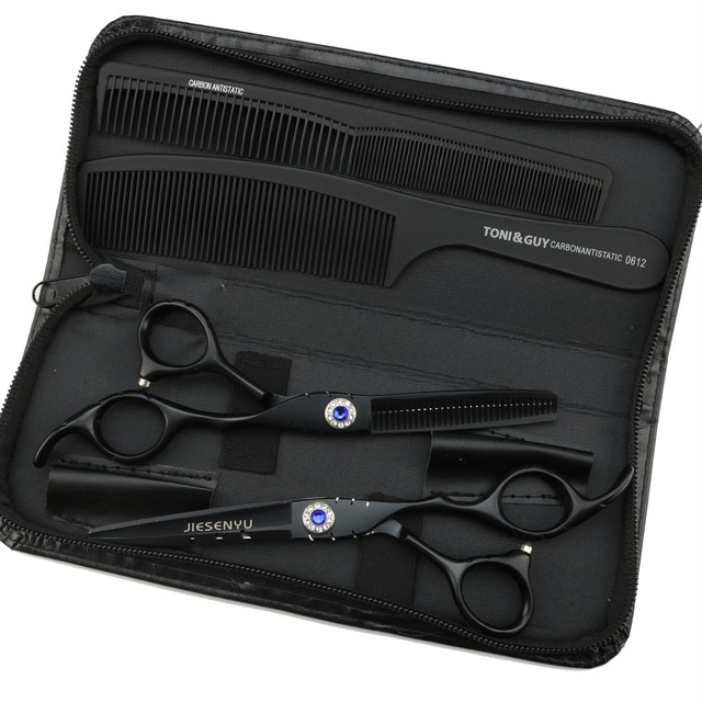 Japanese scissors 6.0 inch black right hand scissors hairdressing hair care comfortable and easy to use perfect cut hair