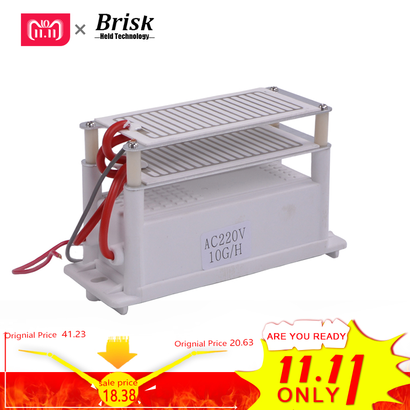 все цены на Brisk Portable Ceramic Ozone Generator 220V/110V 10g Double Integrated Long Life Ceramic Plate Ozonizer Air Water Air Purifier 2 онлайн