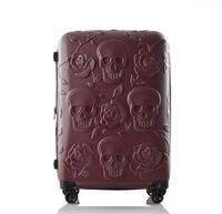 New Travel Skull Luggage Cool Skull Luggage Suitcase Fashion Flower Women Or Men Suitcase Travel