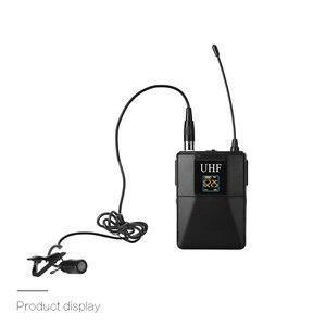 Image 2 - Профессиональный микрофон UHF, Беспроводная микрофонная система, петличный микрофон с отворотом, приемник + передатчик для камкордера, записывающего микрофона