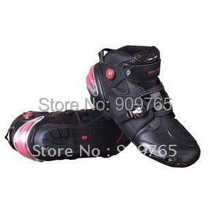 ФОТО Free Shipping Black Man Waterproof Boots Short Boot Guard Motorcycle Bike back protector racing ATV MX Outwear