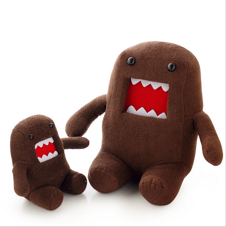 20cm Funny Domokun Toy Creative Staffed Cute  Doll Kawaii Domo Kun Plush Toy for Baby Boy Girl kids simulation creative plush pillow staffed funny eye owl plush toy kids baby doll cute soft sofa cushion interesting birthday gift