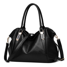 Women Handbags 2016 Women Bags PU Leather Handbags Brand Women Shoulder Bags Black