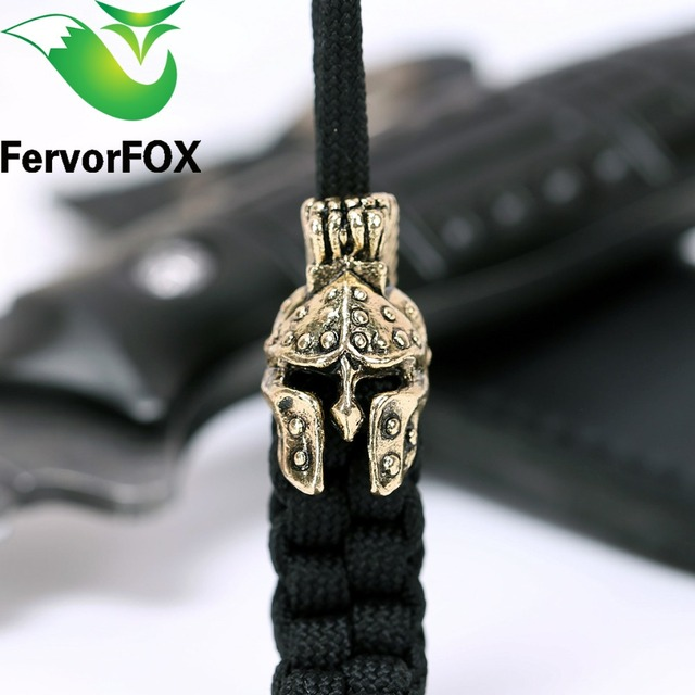 Paracord Beads Metal Charms Skull For Bracelet Accessories Survival Diy Pendant Buckle
