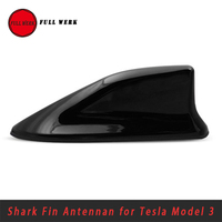 1pc Black ABS Car Shark Fin Roof Decoration Antenna for Tesla Model 3 Exterior Accessories without Aerials