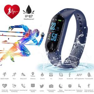 Image 5 - カラー画面スマートブレスレットフィットネストラッカーステップカウンター心拍数血圧情報プッシュスマートリマインダー防水