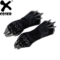 Black Panther Claw Gloves Captain America 3 Civil War New Movie Cosplay Props PU Leather XCOSER