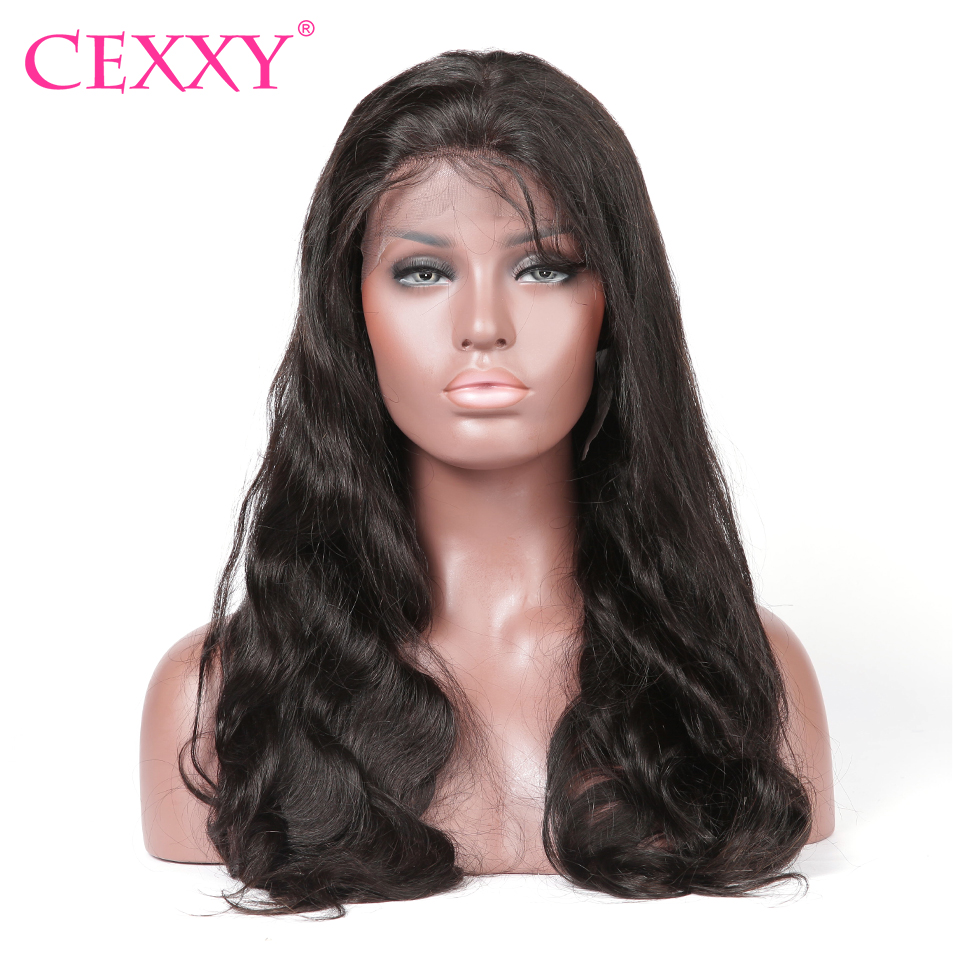 Cexxy Lace Front Wig Body Wave 100 Human Hair Natural
