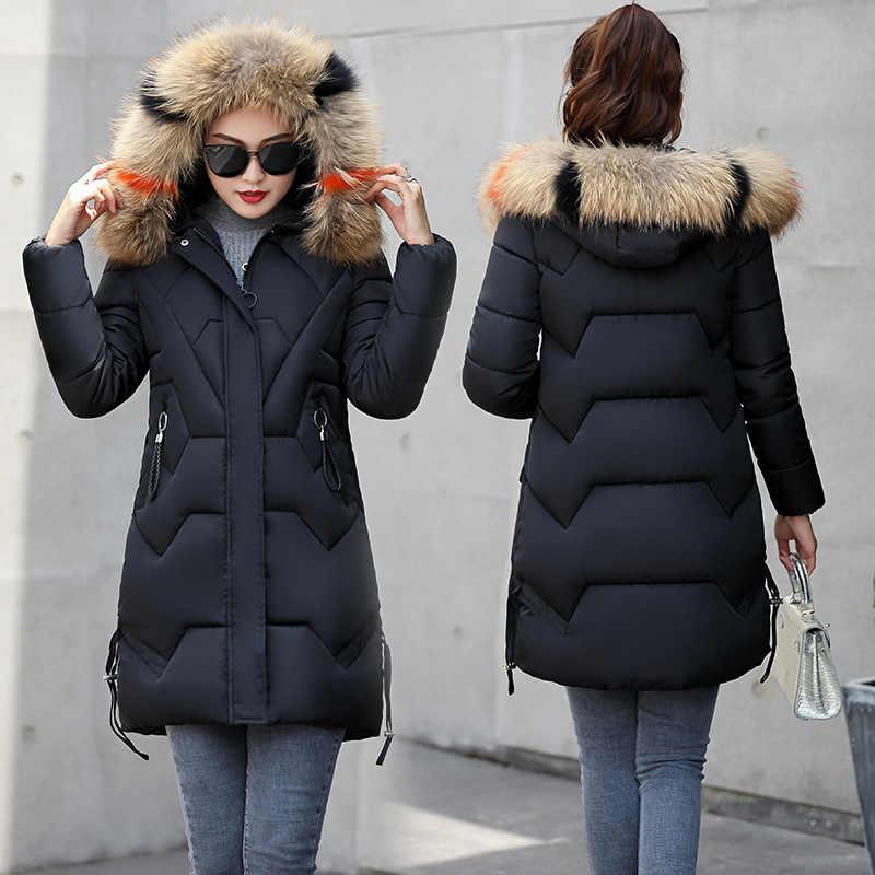Пуховые пальто женские парки Зимняя длинная китайская куртка для дам зимнее длинное пальто Jaquetas меховой воротник парки Mujer ультра легкий пуховик