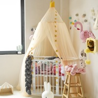 Boys Girls Princess Bed Canopy Cotton Bed Valance Pest Control Reject Net Kids Room Decoration Baby Canopy Round Mosquito Net